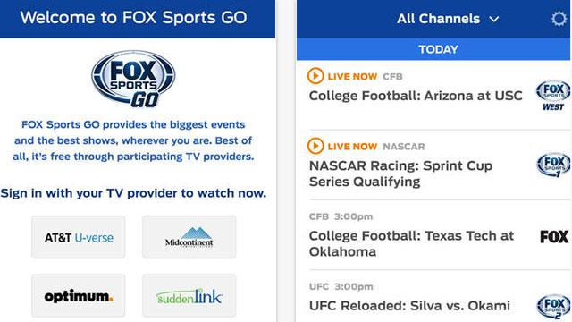 fox sports go mobile app
