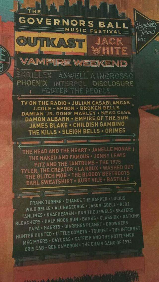 Governors Ball Lineup 2014, Governors Ball Lineup, Governors Ball Headliners 2014, Governors Ball Performers 2014, Governors Ball Lineup List 2014
