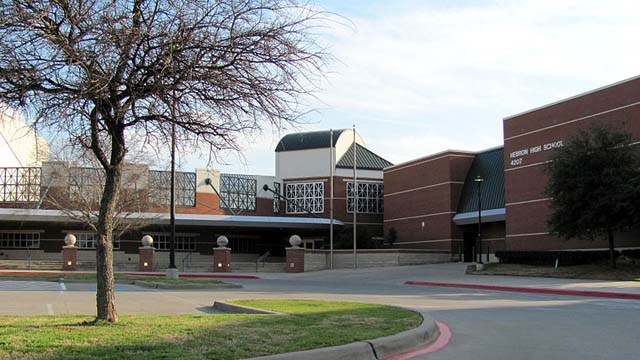 Hebron High School in Lewisville, Texas is on lockdown after a male student phoned in a bomb threat from inside the school.