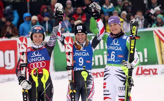 Mikaela Shiffrin, Marlies Schild, Maria Höfl-Riesch, Winter Olympic Games, Sochi