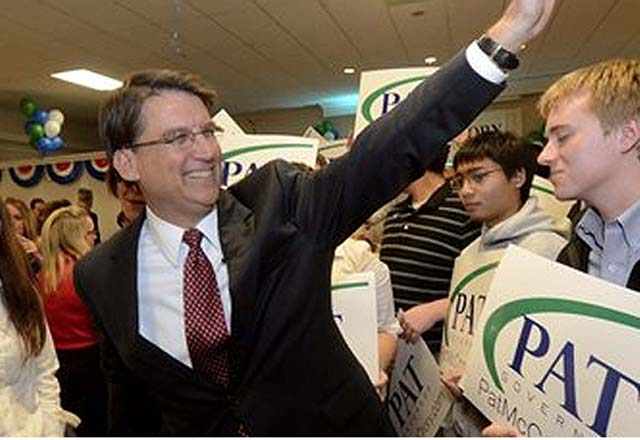 North Carolina governor Pat Mcrory