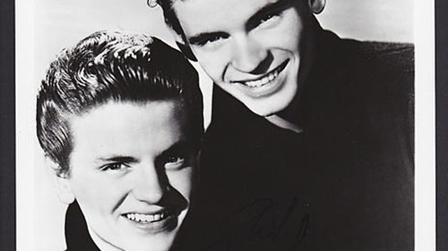 Don (top) Everly and Phil (bottom) Everly formed the Everly Brothers, country-influenced rock-n-roll singers