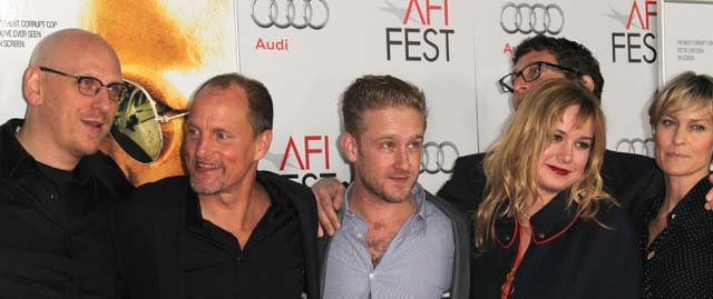 Robin wright Ben Foster, Rampart movie, Robin Wright engaged
