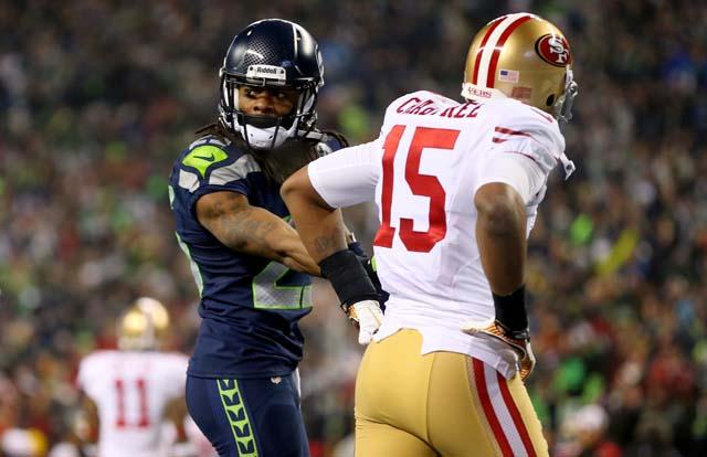 Richard Sherman, Michael Crabtree, Seattle Seahawks, San Francisco 49ers, NFC Championship game, post-game interview