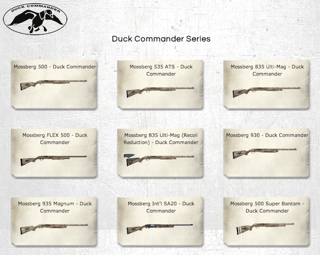 duck dynasty shot guns