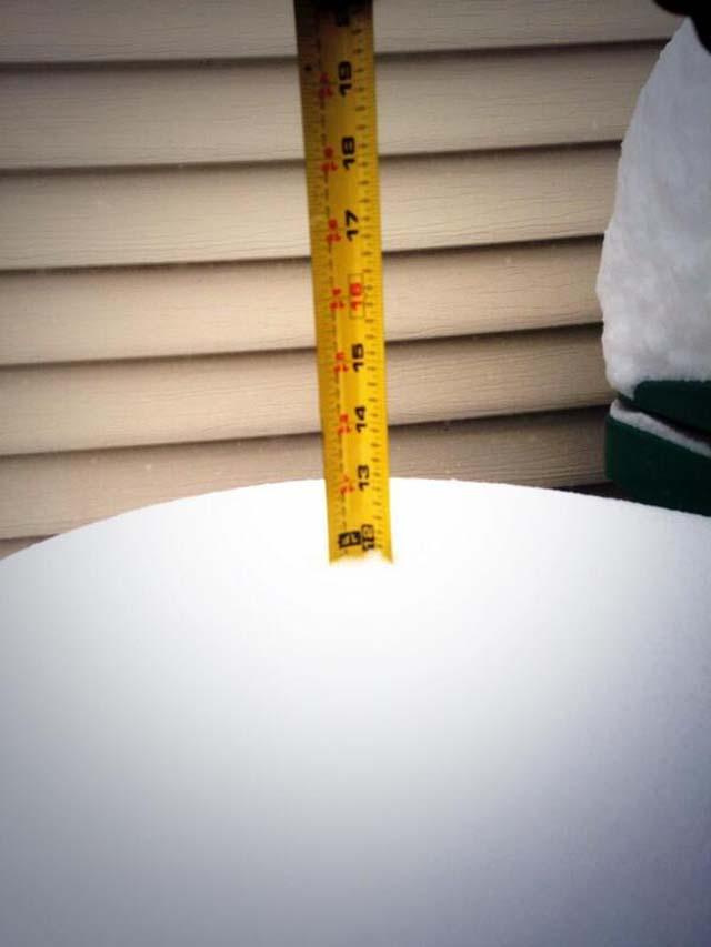Snowfall Totals Winter Storm Hercules