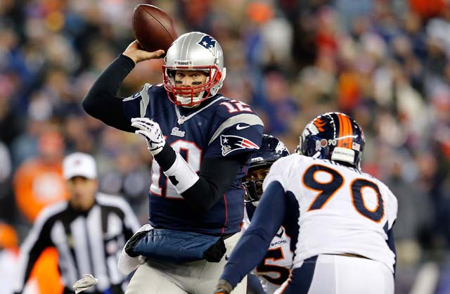 Tom Brady, Peyton Manning, New England Patriots, Denver Broncos, NFL Playoffs, AFC Championship game