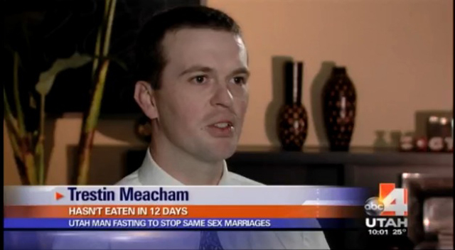 Trestin Meacham Utah Politician Hunger Strike Gay Marriage, Constitution Party Utah Protest Against Gay Marriage