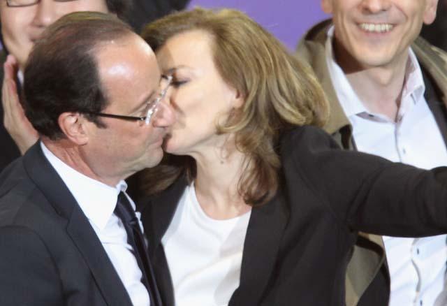 Julie gayet, Hollande and  Trierweiler