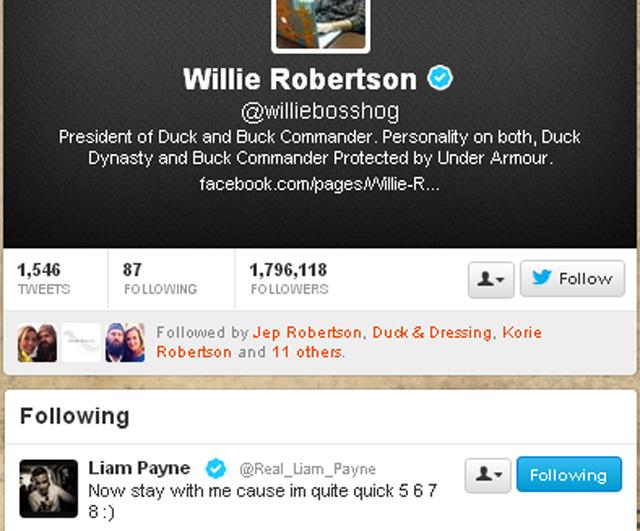 Willie Robertson, Liam Payne, Willie Liam