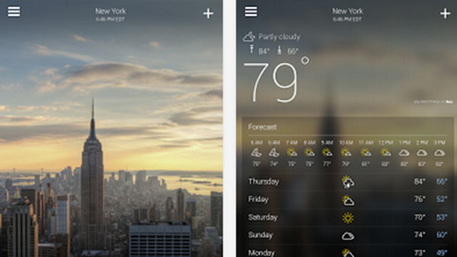 yahoo weather android app