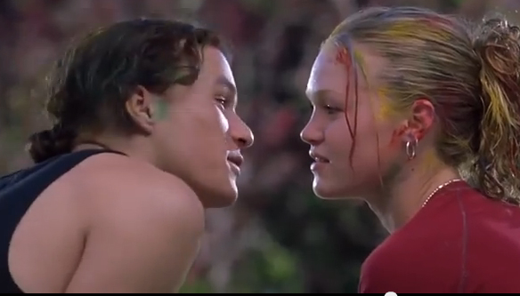 heath ledger, julia stiles, 10 things i hate about you, romantic movies, valentines day movies
