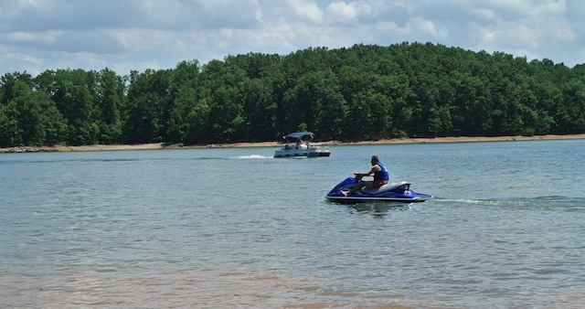 Lake Lanier where the accident occurred. (Getty)