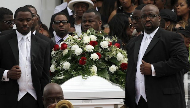 From the funeral of Kile Glover. (Getty)