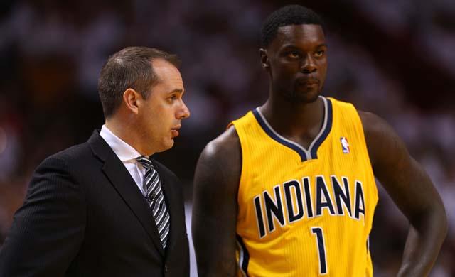 Lance Stephenson, NBA, Basketball, Sports, Ref, Dunk, Indiana Pacers, Brooklyn Nets