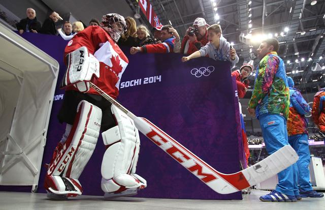 Carey Price Canadian Goalie Team Canada Team USA Sochi