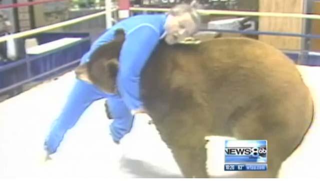 Dale Hansen sometimes wrestles bears. Screenshot via WFAA