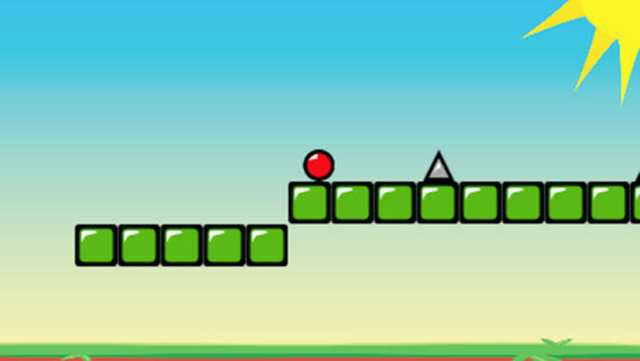 Red Bouncing Ball Spikes