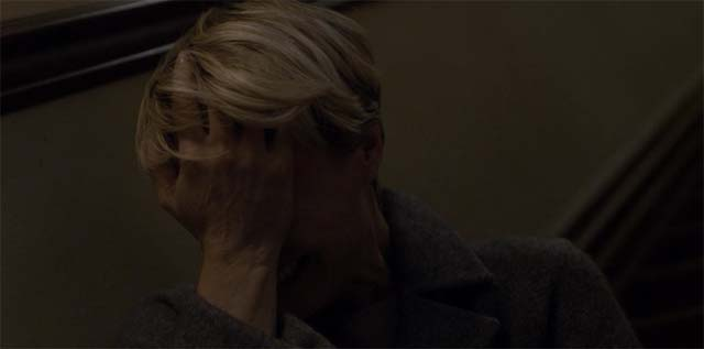 Claire crying in House of Cards