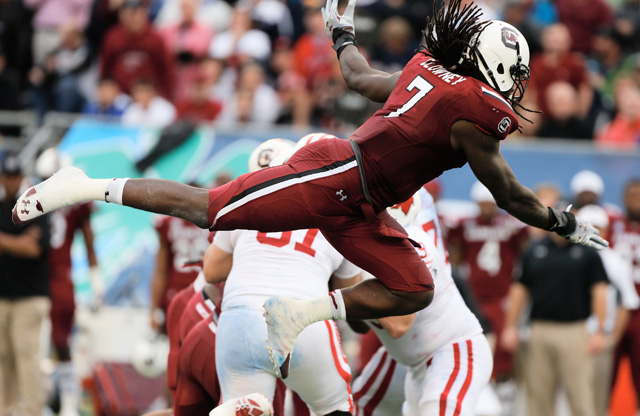 Sports, Football, NFL, College Football, South Carolina Gamecocks, Jadeveon Clowney, Defensive End, 2014 NFL Draft