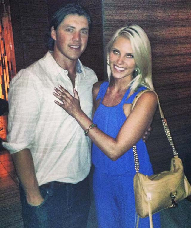 Lauren Cosgrove T.J. Oshie Team USA hockey Sochi Olympics, TJ Oshie Girlfriend, TJ Oshie Fiancee, TJ Osihe Engaged.