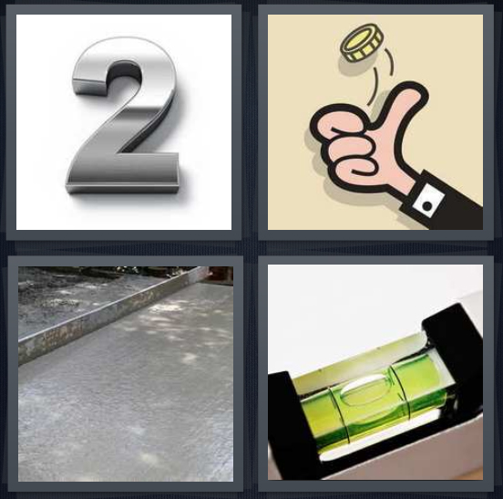 4 Pics 1 Word Answer For Two Flip Concrete Level Heavy Com