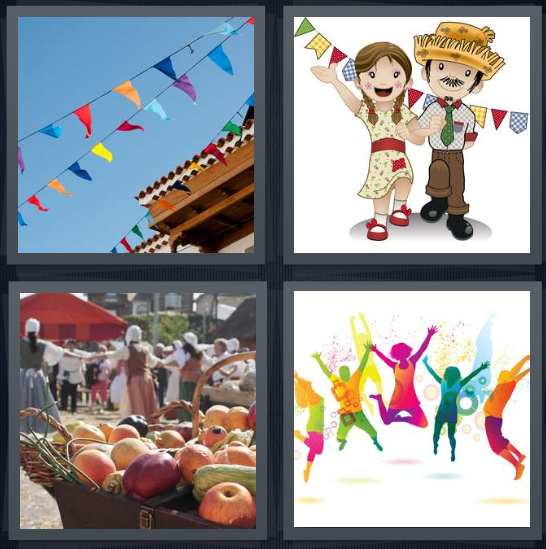 4 Pics 1 Word Answer for Flags, Celebrate, Fair, Party ...