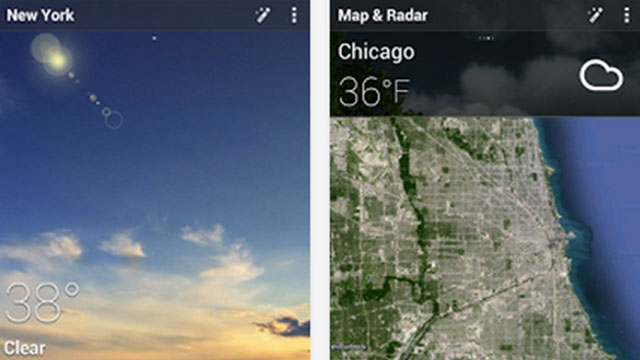 go weather forecasts and widgets