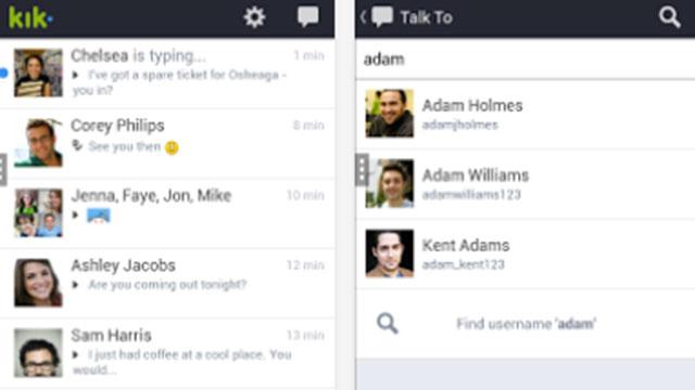 kik messenger android app update