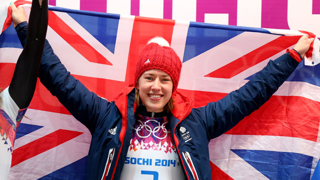 Lizzy Yarnold, Skeleton, Sochi Olympics