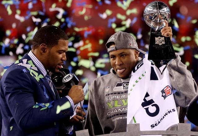 Peyton Manning, Russell Wilson, Seattle Seahawks, Denver Broncos, Super Bowl 2014, Super Bowl XLVIII, Malcolm Smith