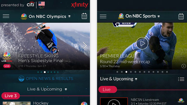 nbc sports live extra iphone android app