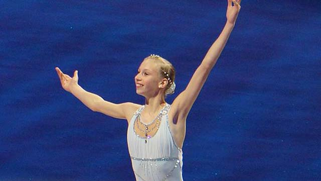 Polina Edmunds Team USA Sochi Twizzle Short Program Olympics Teenage Skater From California.