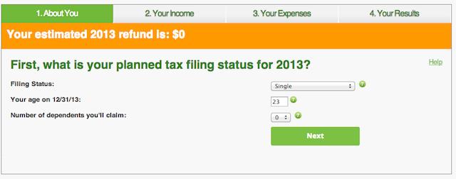 hr block tax calculator