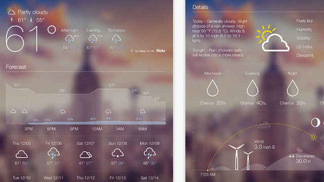 yahoo weather ipad app