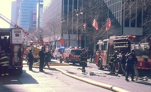 fire near penn station