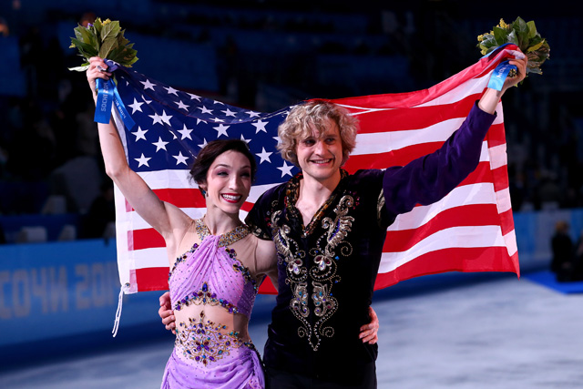 davis and white win gold in ice dancing at sochi