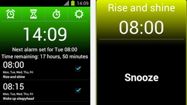alarm clock extreme android app