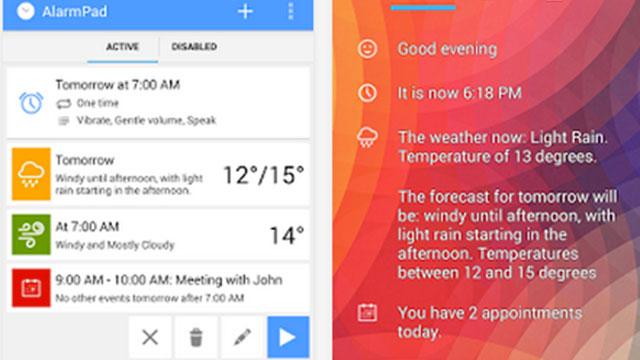 alarmpad android app