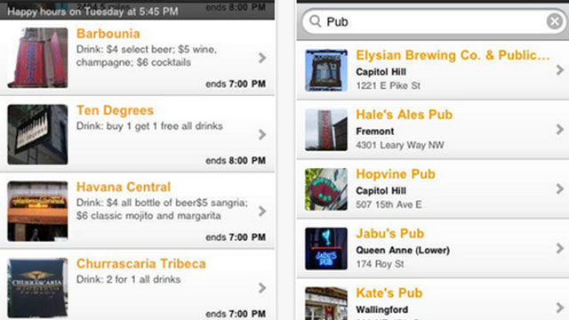 happy hours iphone android app