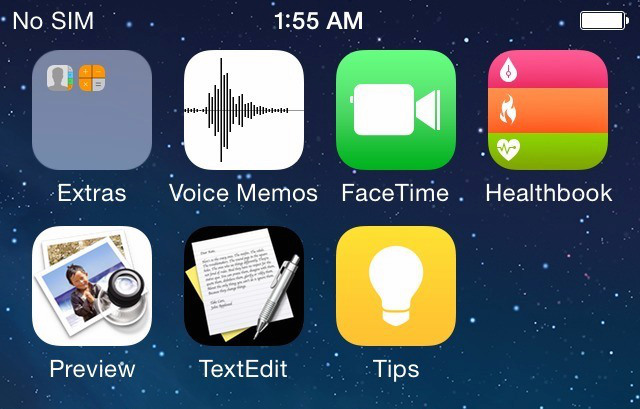 iOS 8, iOS 8 screenshot, iOS 8 leak, faked iOS screenshot, iOS 8 design
