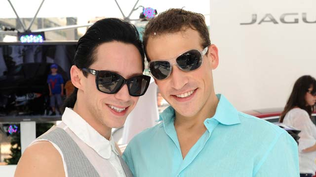 Johnny Weir and husband Victor Voronov, johnny weir arrested, johnny weir gay