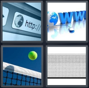 4 Pics 1 Word Answer 3 letters for internet browser window for address, world wide web, ball being served, tennis court