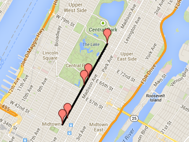 New York City St. Patrick's Day Parade Route