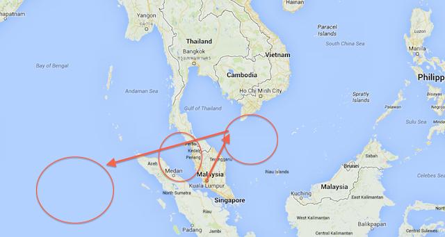 Malaysia flight map