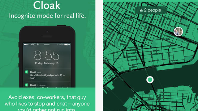 cloak, cloak app, privacy apps, iPhone privacy apps, anti-social apps, hell is other people, avoidance apps, anti-social network