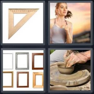 4 Pics 1 Word Answer For Ruler Runner Frames Pottery Heavy Com