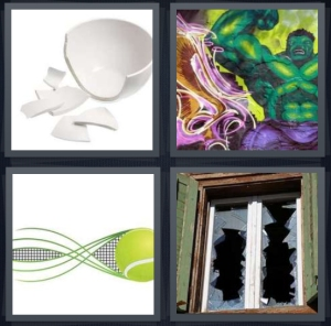 4 Pics 1 Word Answer For Broken Hulk Tennis Shattered Heavy Com