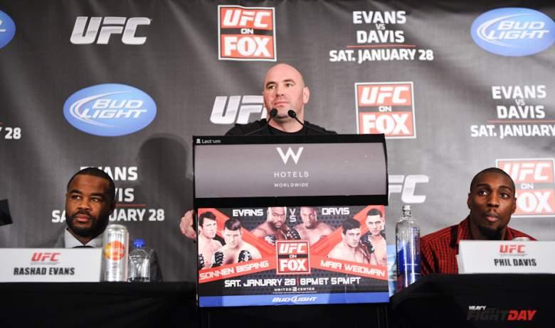 Rashad Evans, Dana White, Phil Davis UFC on Fox 2 Press Conference