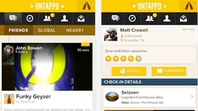 untappd iphone android app